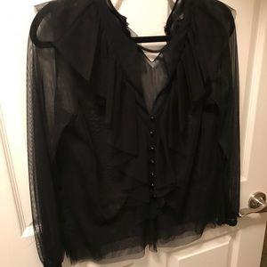 Zara tul blouse worn once